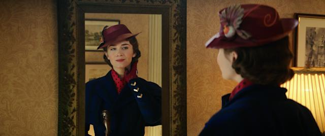 Emily Blunt as Mary Poppins in <i>Mary Poppins Returns</i>. (Photo: Disney)