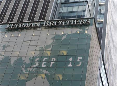 The Lehman Brothers building is pictured in New York