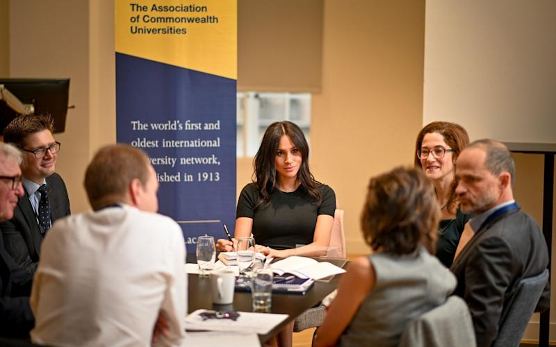 The Duchess of Sussex at a meeting with the Association of Commonwealth Universities - ACU/ David Tett