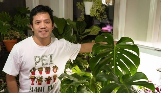 Mel Guray has more than 100 potted plants in his P.E.I. home.