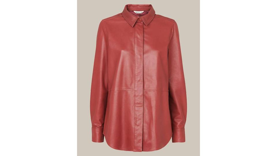 Whistles Panelled Leather Shirt
