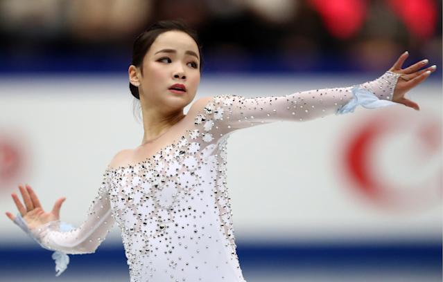 Figure skater Lim Eun-soo of South Korea performs at the 2019 ISU World Figure Skating Championships. Source: Getty/Stanislav Krasilnikov)