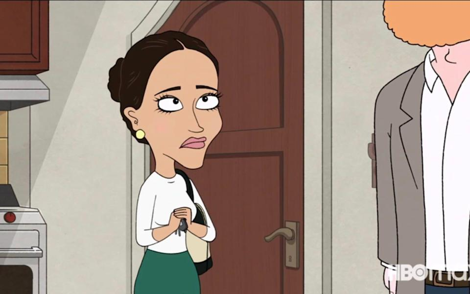 The Duchess of Sussex as portrayed in the show