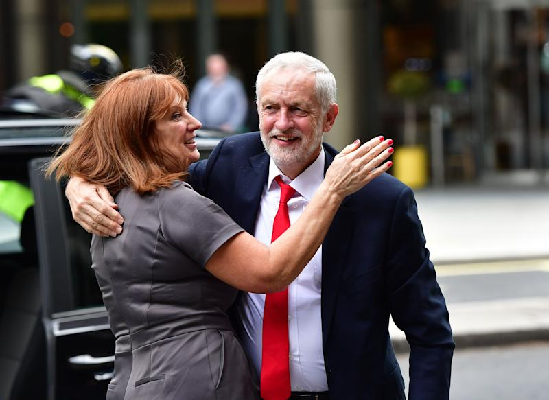 Jeremy Corbyn with Karie Murphy after the 2017 general election (Photo: PA Archive/PA Images)