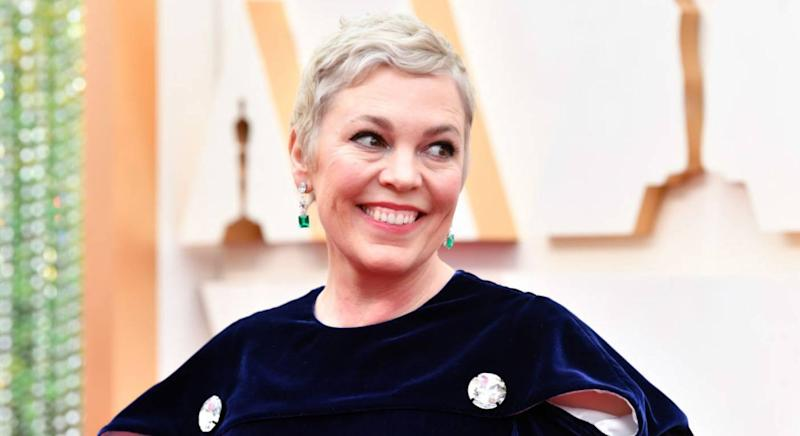Olivia Colman wears No7 Match Made Moisture Drench Lipstick (Getty Images)