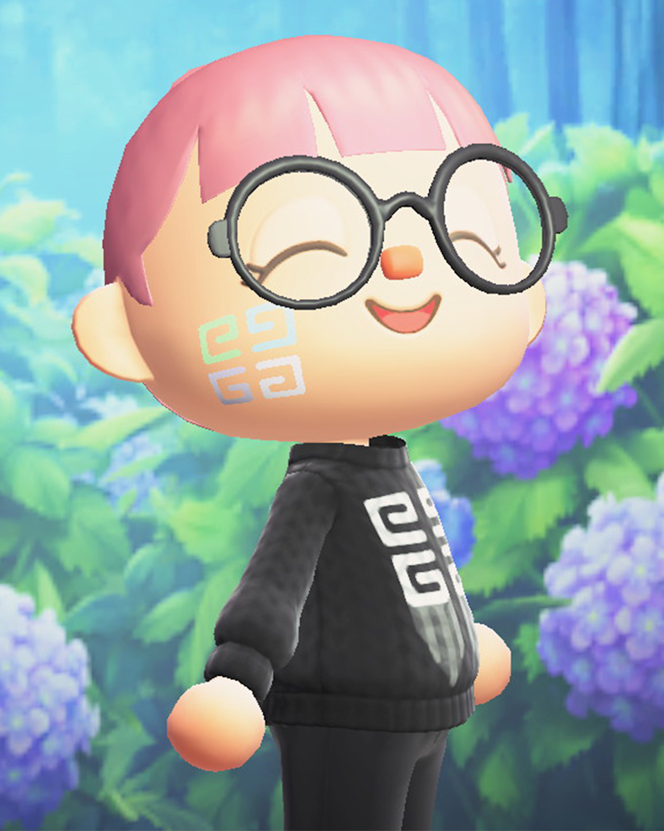 An example of one of the Givenchy makeup options available in Animal Crossing.