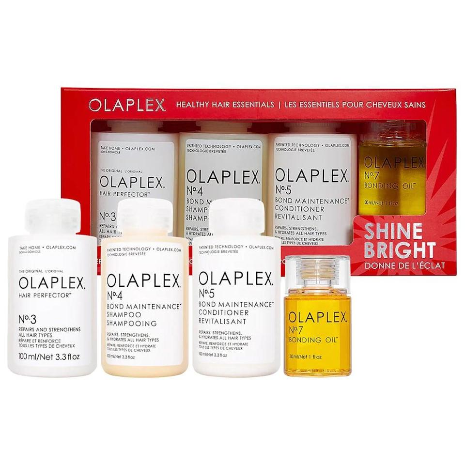 <p>Olaplex is one of those products that is definitely worth the hype. If they're wondering about the brand, gift them this <span>Olaplex Healthy Hair Essentials</span> ($60), and they'll be hooked.</p>