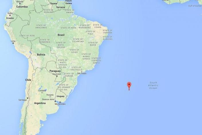 An approximate location of where the meteor exploded