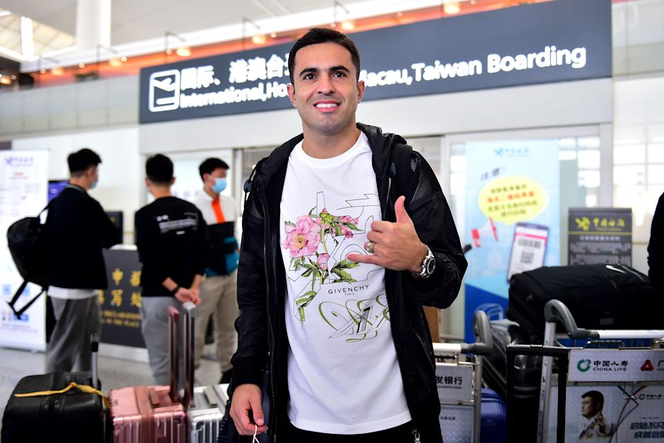 NANJING, CHINA - NOVEMBER 15: Eder Citadin Martins of Jiangsu Suning is seen at an airport as he departs for home on November 15, 2020 in Nanjing, Jiangsu Province of China. (Photo by VCG/VCG via Getty Images)