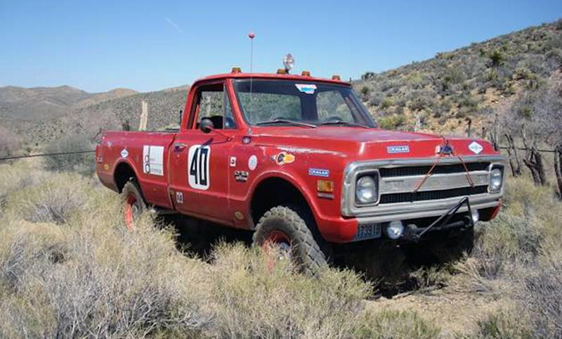 "This photo provided by Courtesy of Mecum Auctions, a 1969 Chevrolet C/10 Baja race truck once owned by actor Steve McQueen is shown. McQueen's old truck and prescription sunglasses worn by John Lennon are among hundreds of items once owned by celebrities that are scheduled to be auctioned in California next month. The Mecum Auction Company said Wednesday, June 26, 2013, it will be displaying and auctioning about 2,000 pieces of celebrity-related memorabilia in Santa Monica, Calif. on July 26-27. Mecum, which specializes in the sale of collector cars, says one of the auction's highlights will be Elvis' 1972 Cadillac Custom Estate Wagon. ""The King of Rock n' Roll"" owned the car from 1972 until his death in 1977, according to Mecum's Web site. (AP Photo/Courtesy of Mecum Auctions, David Newhardt)"