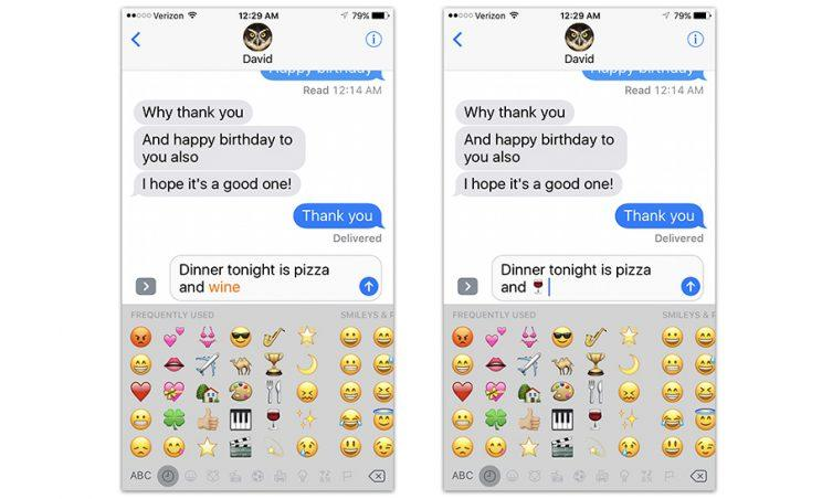The emoji-replacment feature doesn't always work (why not