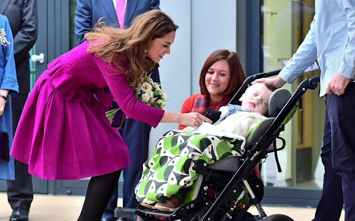 The Duchess of Cambridge arrives to open The Nook Children's Hospice in Norfolk - WireImage