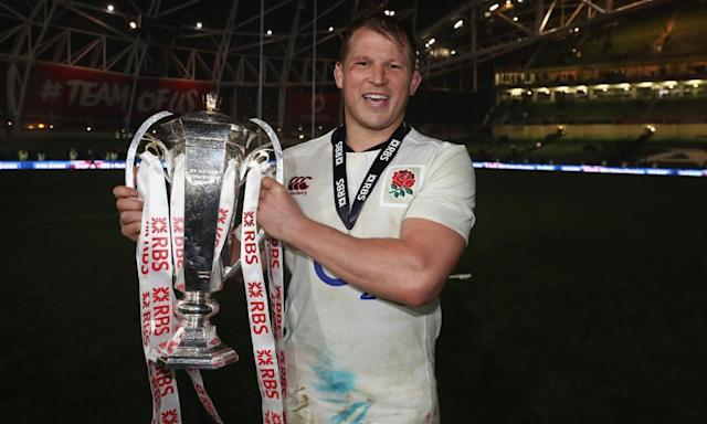 "<span class=""element-image__caption"">Dylan Hartley holds the Six Nations trophy but admitted it was a strange feeling to have lost to Ireland but won the tournament.</span> <span class=""element-image__credit"">Photograph: David Rogers/The RFU Collection via Getty Images</span>"