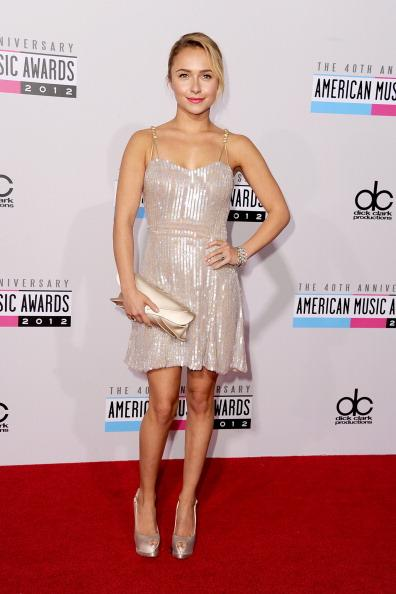 Hayden Panettiere arrives on the 2012 American Music Awards red carpet.
