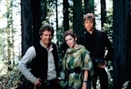 """<p>The final entry in the first round of <em>Star Wars</em> movies brought us, among other things, the Ewoks.</p> <p><em>Available to buy on</em> <a href=""""https://www.amazon.com/Star-Wars-Return-Bonus-Content/dp/B079394YDY"""" rel=""""nofollow noopener"""" target=""""_blank"""" data-ylk=""""slk:Amazon Prime Video"""" class=""""link rapid-noclick-resp""""><em>Amazon Prime Video</em></a><em>.</em></p>"""