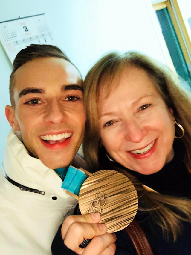 Olympic skater Adam Rippon with his mom. (Photo: Courtesy of Adam Rippon)