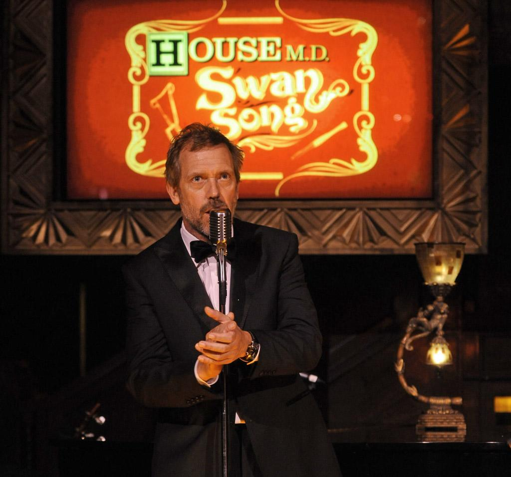 "Hugh Laurie at the ""<a target=""_blank"" href=""http://tv.yahoo.com/house/show/36106"">House</a>"" Series Finale Wrap Party on Friday, April 20, 2012 at Cicada in downtown Los Angeles, California."