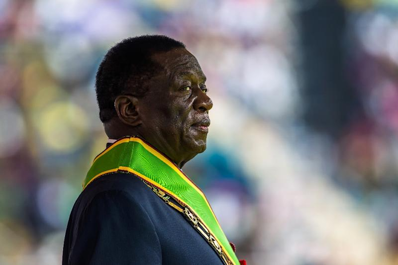 Critics say President Emmerson Mnangagwa has failed to turn around the economy (AFP Photo/Jekesai NJIKIZANA)