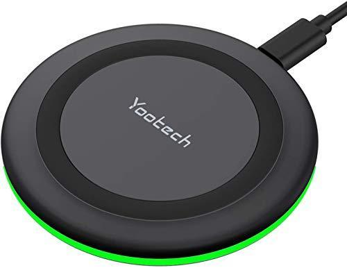 Yootech Wireless Charger, Qi-Certified 10W Max Fast Wireless Charging Pad Compatible with iPhon…