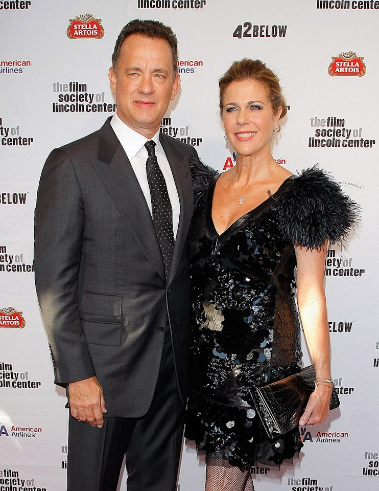 "<a href=""http://movies.yahoo.com/movie/contributor/1800010392"">Tom Hanks</a> and <a href=""http://movies.yahoo.com/movie/contributor/1800019302"">Rita Wilson</a> at the 36th Film Society Of Lincoln Center's Gala tribute honoring Tom Hanks - 04/27/2009"