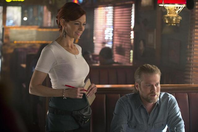 Arlene Fowler (Carrie Preston) stood by her new husband, Terry Bellefleur (Todd Lowe), when he was being chased down by a fiery ifrit, the manifestation of a curse put on him and the rest of his platoon in Iraq, and now it seems that happier times are in store for the couple at Merlotte's.