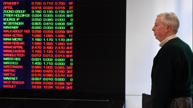 <p>The Australian stock market is higher at noon thanks to gains from the energy and mining sectors.</p>
