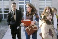 """<p>Students in New Jersey congregate in front of their high school.</p><p><strong>RELATED:</strong> <a href=""""https://www.goodhousekeeping.com/life/g3730/things-people-born-in-the-80s-will-remember/"""" rel=""""nofollow noopener"""" target=""""_blank"""" data-ylk=""""slk:15 Things Only People In the '80s Remember"""" class=""""link rapid-noclick-resp"""">15 Things Only People In the '80s Remember</a></p>"""