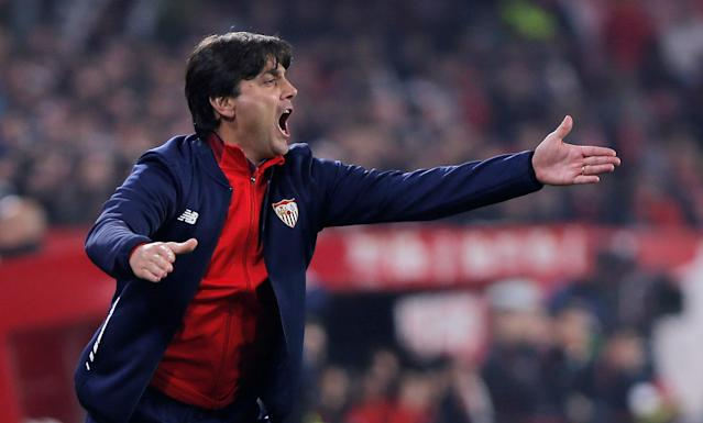 Soccer Football - Spanish King's Cup - Quarter Final Second Leg - Sevilla vs Atletico Madrid - Ramon Sanchez Pizjuan, Seville, Spain - January 23, 2018 Sevilla coach Vincenzo Montella REUTERS/Jon Nazca