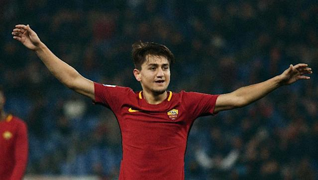 Cengiz Under has scored four goals in his last three games for Roma (AFP Photo/Vincenzo PINTO)