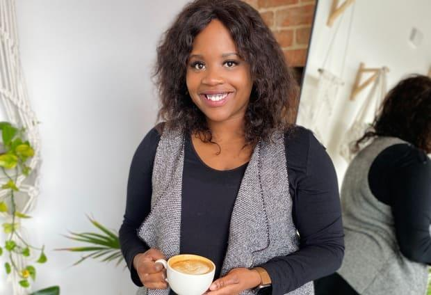 Natasha Ngindi is a Saskatchewan nutritionist and body-positive influencer. She recommends unfollowing any social media account that says it's going to help you lose your 'lockdown love handles.' (Submitted by Natasha Ngindi - image credit)