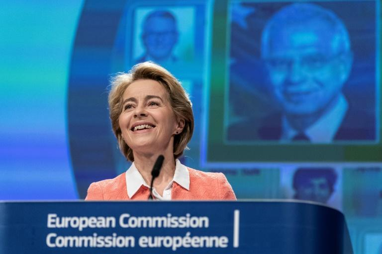 Incoming Commission chief Ursula von der Leyen will be judged on how well she turns her climate promises into reality (AFP Photo/Kenzo TRIBOUILLARD)