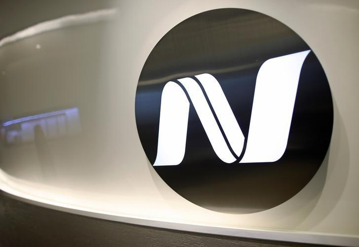 FILE PHOTO: Noble Resources signage is pictured at office in Singapore