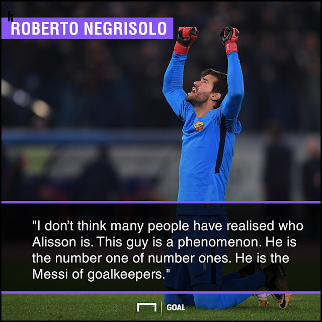 After Wojciech Szczesny's move to Juventus, the Brazilian has established himself as not only the best shot-stopper at Roma but also in Serie A