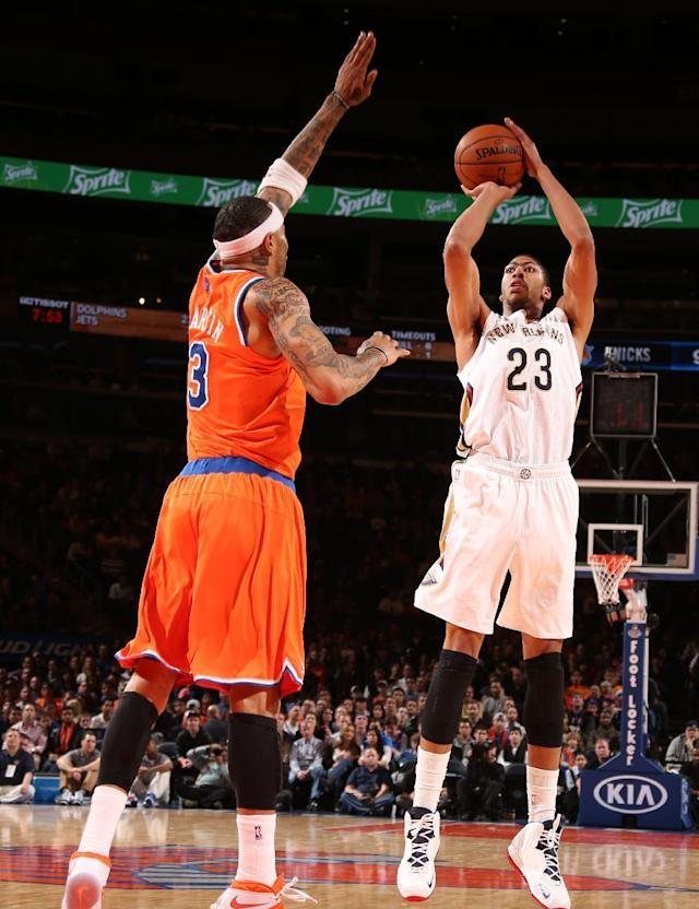 Davis hurt, Anderson leads Pelicans over Knicks