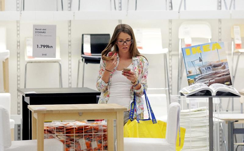 Ikea is aiming to reduce its overall climate impact by 70 percent on average per product by 2030 (AFP Photo/STRINGER)