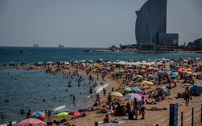 Spain's beaches reopened in June