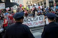 New York has witnessed protests against Donald Trump's anti-immigration stance
