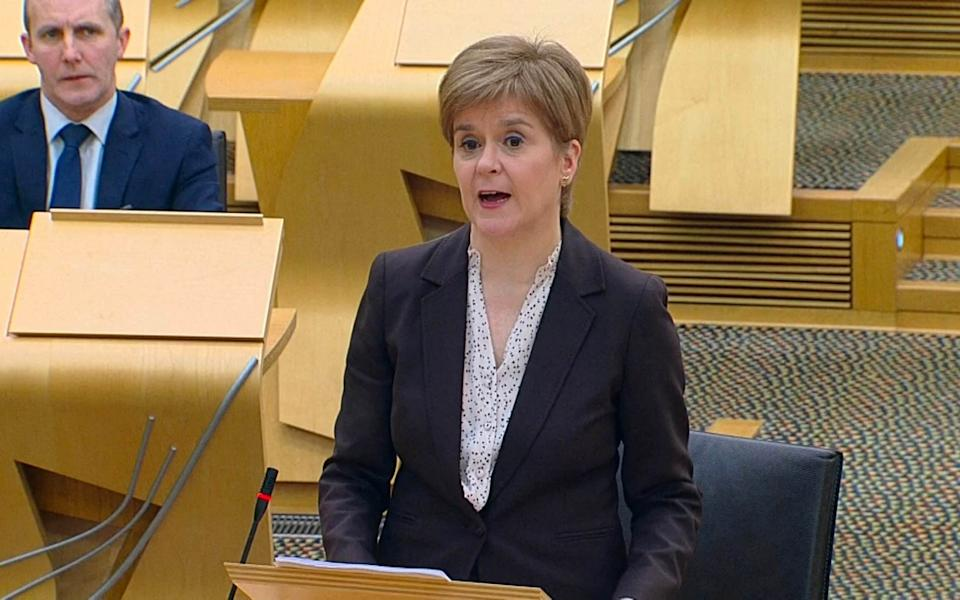 Stay-at-home rules to be introduced from midnight - First Minister Nicola Sturgeon - SCOT GOV/UNPIXS (EUROPE) 04/01/2021