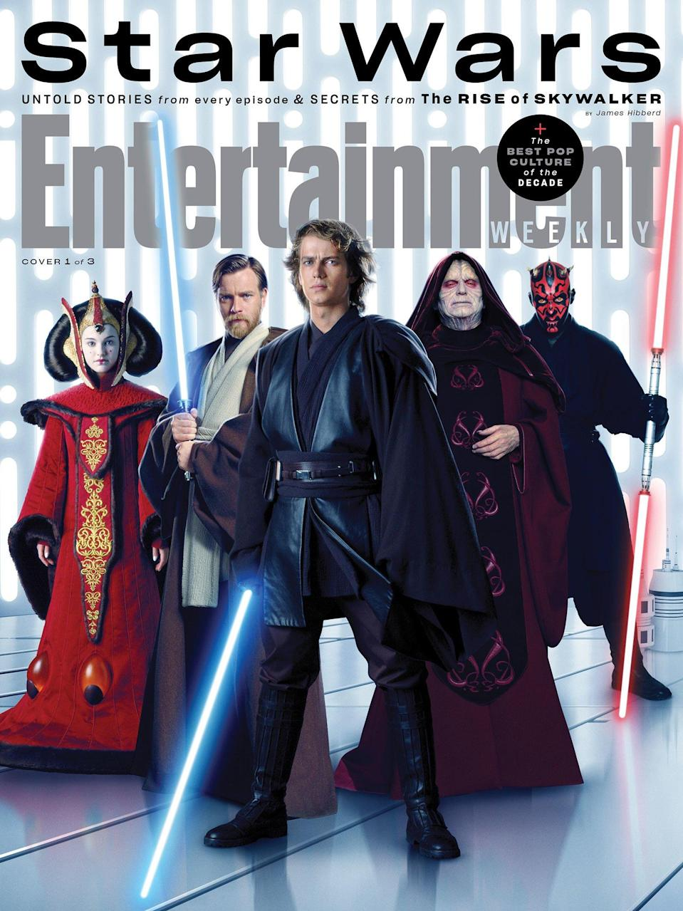 """To commemorate the franchise's epic conclusion, we released <a href=""""https://ew.com/movies/2019/11/19/star-wars-the-rise-of-skywalker/"""" rel=""""nofollow noopener"""" target=""""_blank"""" data-ylk=""""slk:three special Star Wars covers"""" class=""""link rapid-noclick-resp"""">three special <em>Star Wars</em> covers</a> in December."""