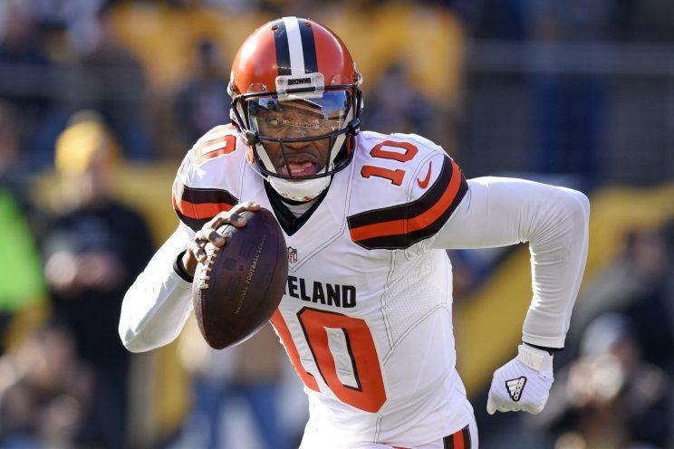 Robert Griffin III remains an unsigned free agent. (AP)