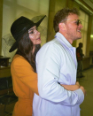 <p>On 23 February, Emily Ratajkowski surprised followers when she announced on Instagram that she had wed boyfriend, Sebastian Bear-McClard. The model decided against wearing white as she is 'not pure' and instead donned a mustard-hued £120 suit by Zara. <em>[Photo: Instagram]</em> </p>