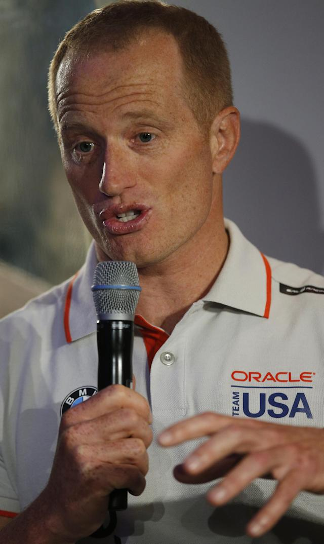 Britain Sailing - America's Cup Media Event - House of Garrard, Mayfair, London - 25/1/17 Jimmy Spithill of the Oracle Team USA during a press conference Action Images via Reuters / Andrew Couldridge Livepic EDITORIAL USE ONLY.
