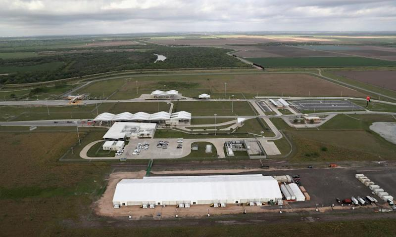 A US Customs and Border Protection detention center next to the Mexico border in Donna, Texas