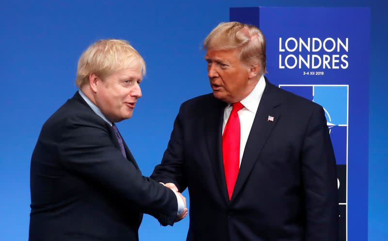 Johnson, Trump look forward to ambitious trade agreement - Downing Street
