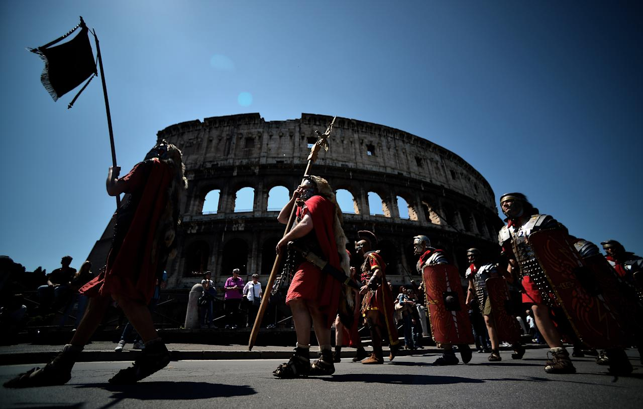 <p></p><p>Contrary to belief, many gladiators didn't fight with the intention to die – many were highly trained professionals who made their living fighting. Fights weren't always human vs animal either, on many occasions animal-on-animal clashes occurred. The first Roman gladiator games happened in 264 BC and lasted for nearly 1000 years. (Getty) </p><p></p>