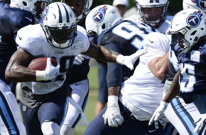 A one-third stake in the Tennessee Titans is up for sale. (AP)