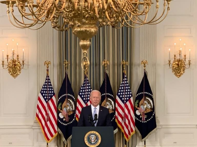 President Joe Biden said some 60 million Americans are eligible for Pfizer booster shots against Covid-19 (AFP/Jim Watson)