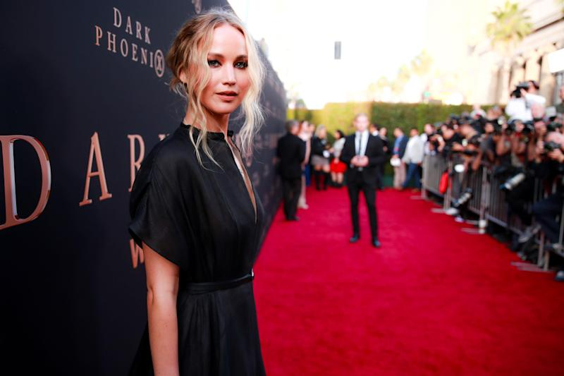 Jennifer Lawrence walked the red carpet alone for the LA premiere of