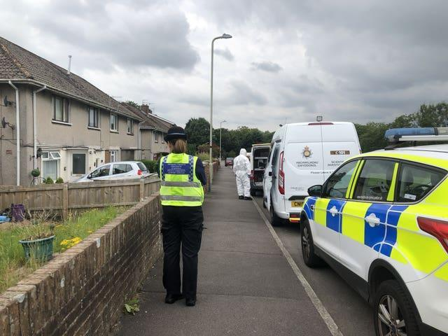 Police cordoned off a property near the river (Claire Hayhurst/PA)