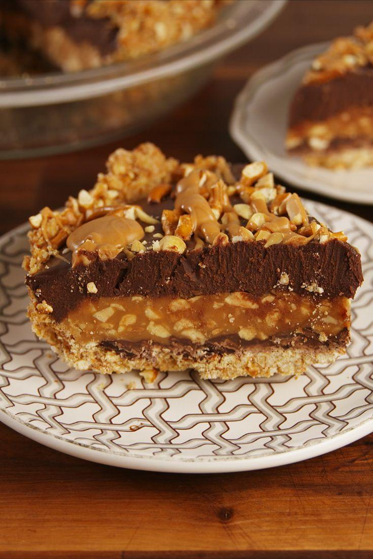 """<p>Candy bars are always better in pie form.</p><p>Get the recipe from <a href=""""https://www.delish.com/cooking/recipe-ideas/recipes/a56615/take-5-pie-recipe/"""" rel=""""nofollow noopener"""" target=""""_blank"""" data-ylk=""""slk:Delish"""" class=""""link rapid-noclick-resp"""">Delish</a>.</p>"""